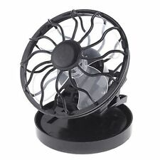 Solar Portable Mini Clip-on Fan Outdoor Sun Powered Panel Cooling Cell Fan Black