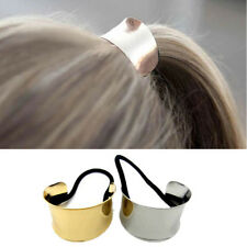 Hair Personality Women Cuff Cooling Metal Circle Hair Jewelry Rope Rubber 1Pcs