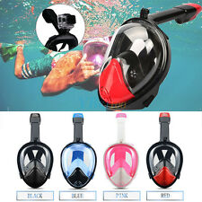 Anti-Fog Swimming Diving Full Face Snorkel Scuba Mask w/Mount for GoPro S/M/L/XL