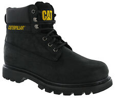 Caterpillar Colorado Boots Leather Black Ankle Wide Lace CAT Mens Work Boots