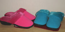 NEW ISOTONER Pink or Blue Slip On SLIPPERS Knit Clogs shoes WOMENS 7.5 8 8.5 9