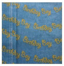 BLUE BIRTHDAY BOY Tissue Wrapping Paper Sheets - 18GSM sheets - 35 x 45cm