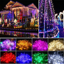 Outdoor Solar Powered Warm White Copper Wire Outdoor String Fairy Light Hot #S