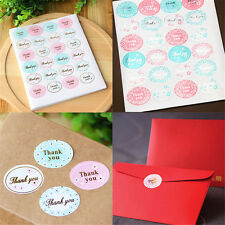 """5 sheets Oval """"Thank You"""" Adhesive Seal Sticker Label Envelope Decor 120Pcs FT"""