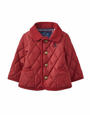 Joules Baby Boys Quilted Jacket - Red