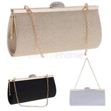 Glitter Crystal Evening Bag Handbag Women's Party Clutch Bag with 2 Chain Straps