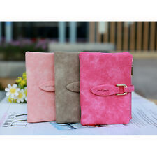 1Pcs Wallet Fashion Lady snap fastener Frosted Small clutch bag Wallet vintage