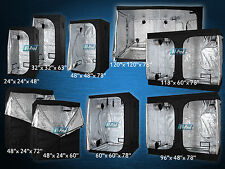 Hydroponics 600D/1680D Indoor Toxic Grow Tent Room 100% Reflective Mylar 9 Sizes