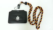 NEW ID Card badge holder Genuine leather horizontal vertical multicolor lanyard