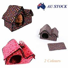 Pet Dog Cat Bed House Portable Puppy Kennel Cave Pad Cozy Cushion Foldable Nest