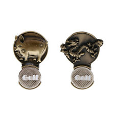Sturdy Retro Zodiac Magnet Hat Clip Golf Ball Marker Clip On Golf Cap Visor