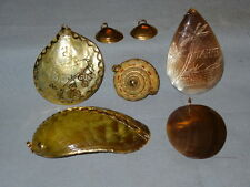 Vintage Lot of 7 Pendent Charm Jewelry - Gold Tone Accents