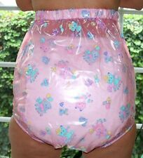 PVC Adult Baby Incontinence Diaper Rubber Trousers rosa transparent kid