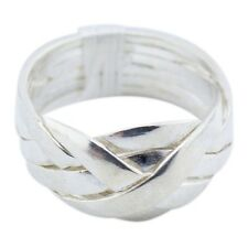 Sterling Silver | 6 Band Puzzle Ring | Ring Mens