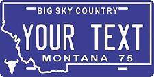 Montana 1975 License Plate Personalized Custom Auto Bike Motorcycle Moped tag