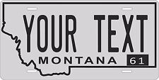 Montana 1961 License Plate Personalized Custom Auto Bike Motorcycle Moped tag