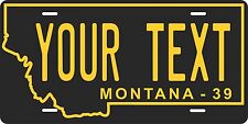 Montana 1939 License Plate Personalized Custom Auto Bike Motorcycle Moped tag