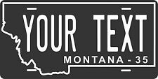 Montana 1935 License Plate Personalized Custom Auto Bike Motorcycle Moped tag