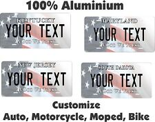 Any State Any Text USA  Personalized Auto Bike Moped Motorcycle License plates