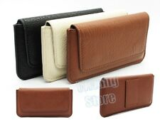 Retro PU Leather Outdoor Belt Loop Holster Pouch Flip Case Cover for Cell Phone