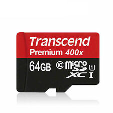 Transcend Micro SD Card 16GB 32GB 64GB TF Flash Memory Card With Adapter Class10