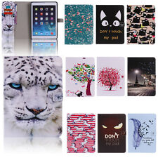 Leather Flip Wallet Tablet Case Stand Folio Pouch Smart Cover For Apple iPad
