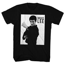 Bruce Lee Mens New T-Shirt BRUCE LEE in 100% Black Cotton in Sizes SM - 5XL