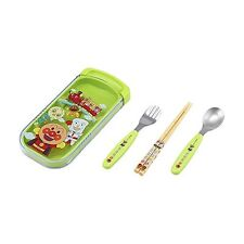 REC Anpanman Slide 3-piece set (chopsticks, spoon, fork) Green