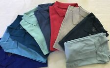 Men's New Polo T-Shirt Short Sleeve 100% Cotton Solid- Choice Size & Color