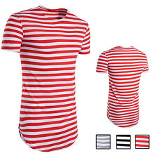 Summer O-Neck Short-Sleeved Striped T-Shirt 1Pcs Men T-shirt Man Casual T-shirt