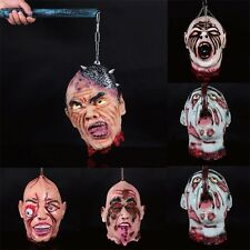Halloween Party Hanging Decoration Scary Haunted House Horror Zombie Head Prop