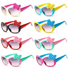 Anti-UV Sunglasses Kids Boys Baby Girls Cartoon 8 Color Goggle Glasses Bow GD