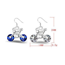 Design Earring Bicycle Crystal Jewelry New Women Bike Gift 1Pair Fashion Earring