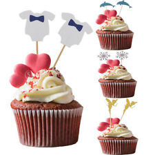 10pcs Baby Kids Cake Picks Cupcake Toppers Baby Shower Birthday Party Decoration