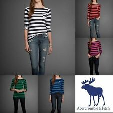 NWT ABERCROMBIE & FITCH WOMENS STRIPE 3/4 SLEEVE ELICIA TEE