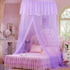 Exquisite Lace Hanging Mosquito Net Round Hoop Bed Canopy Netting Home Decor