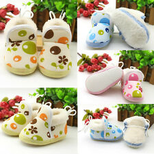 1Pair Boots Girls Soft Sole Ankle Winter Boy Warm Infant Toddler Shoes Baby New