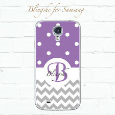 Personalized Polka dots Phone case - Name, Initials monogram Case for Samsung
