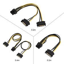NEW 15pin SATA Male To 8pin(6+2) PCI-E Power Supply Cable Cable SATA Cable ES