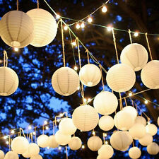 Hot Chinese Paper Lantern White Balloon Lamp Ball Light Party Supply Decoration