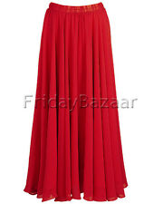 Red | Chiffon 2 Layer Reversible Long Skirt Full Circle S~3XL Gypsy | 25 Color