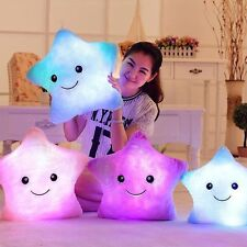 Funny Gift Changing LED Colorful Light Smile Star Thrown Toss Pillow Cushion
