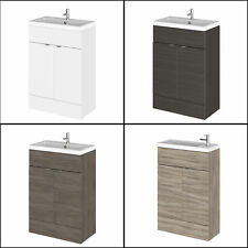 Modern Hudson Reed Bathroom Compact Combination Vanity Unit With Basin