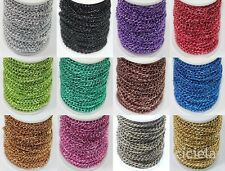 2/5M Colorful Metallic Plated Open Cable Jewelry Chain Finding Craft DIY 6x4mm