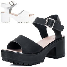 SPYLOVEBUY AKIRA Platform Chunky Sole Block Heel Sandals Shoes SZ 3-8