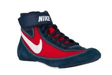 New! Mens NIKE SPEEDSWEEP VII 7 366683-007 Wrestling Shoes MMA Navy Blue Red