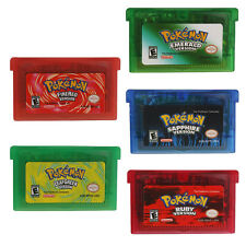 Pokemon New Game Cards Leaf Grean Fire Red Emerald Ruby US Version For GBA