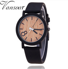Simulation Wooden Relojes Quartz Women Watch Casual Wooden Color Leather Strap