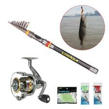 Spinning Fishing Rod Reel Set Telescopic Reel And Pole Saltwater Line Lure N7C8