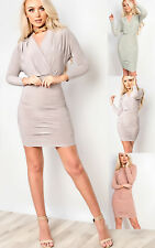 Women's Ladies Stunning Long Sleeved Fitted Bodycon Dress